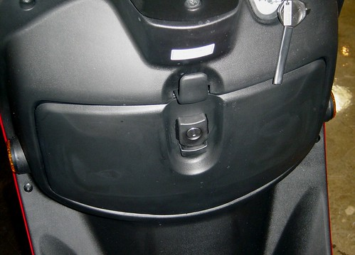 Safe locking storage compartment.
