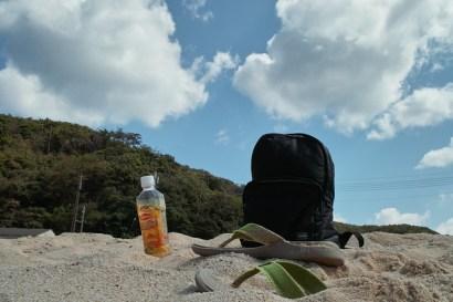 海 空 サンダル ペットボトル リュック