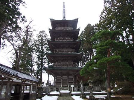 善寶寺~五重塔