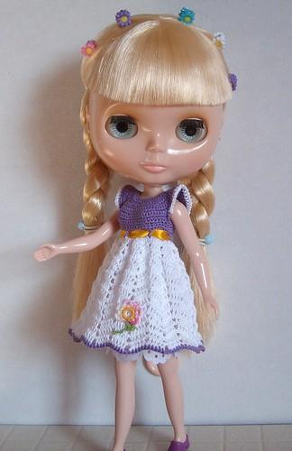 Maggie on spring dress