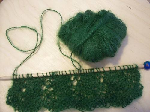 Getting used to lace knitting...Ive forgotten what pattern I started with...