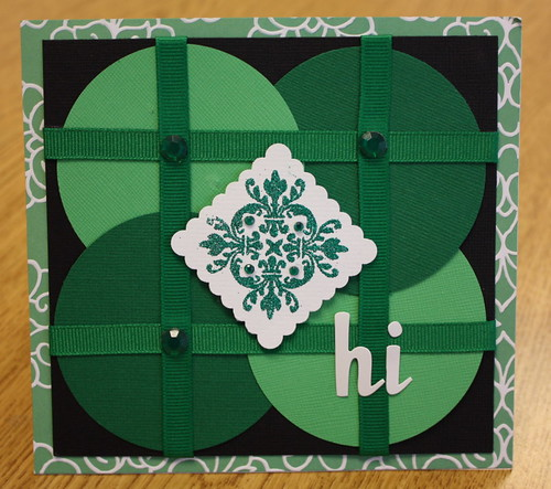 In honor of St. Patrick's Day, I created a Celtic inspired hello card featuring a lovely Lil Davis stamp.