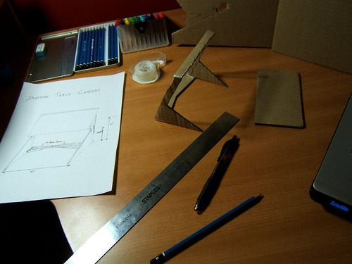 Cutting and building the cardboard model