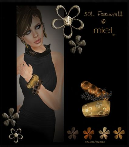 Miel - Flower Bangles