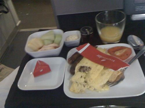 Breakfast  Delta biz class to amsterdam