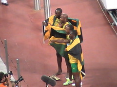 Gold Medal Jamaican Men's Relay Team