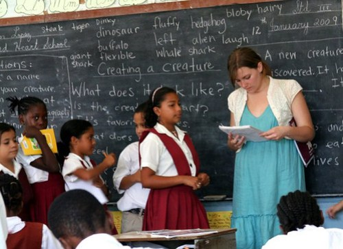 Student teacher in Belize