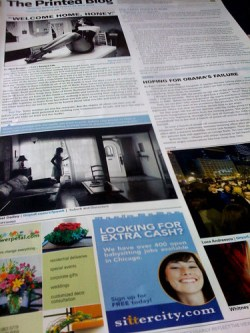 Printed Blog - Front Page