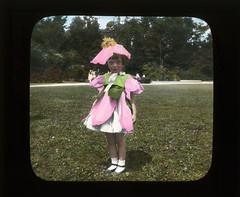 Girl in flower costume