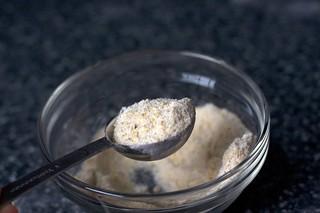 ground almonds, sugar and flour