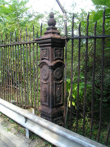 Gate post, former Park Rd. entrance to Old Soldiers' Home