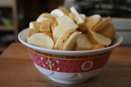 Parsnips in a bowl