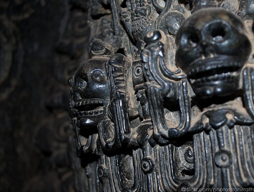 Skull on the crown of Lord Shiva at Hoyseleswa...