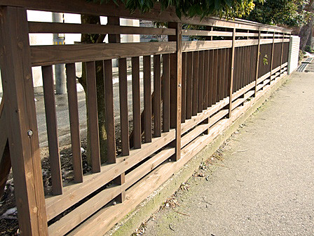 町屋再生プロジェクト~村上小学校木製フェンス