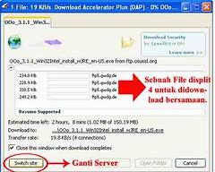 Download dengan DAP 9.3