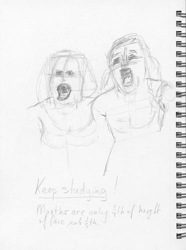 Loes Nuijten and Anna van Ruiten, sketch 1