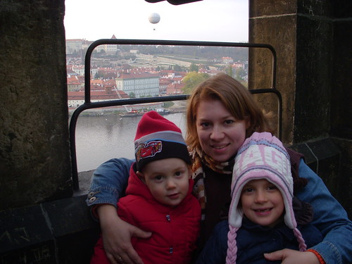 Up in the tower on the Charles Bridge