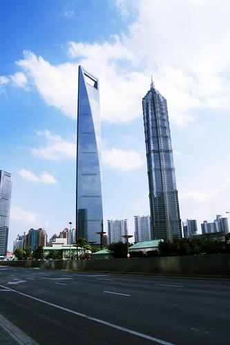 环球金融中心+金茂大厦 by you.