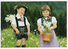 Austrian Children in Traditional Costume