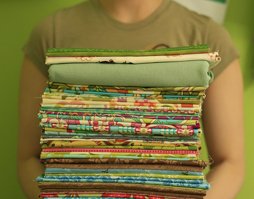 So there were all these pretty fabrics, you see