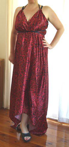 goddess wrap dress