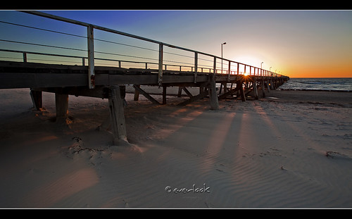 Mariannes take on semaphore Jetty at sunset.