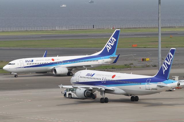 ANA A320-200(JA8392) + ANA B737-800(JA55AN)