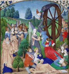 Miniature depicting Fortune and her Wheel