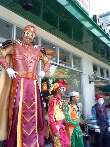 circus characters at krispy kreme