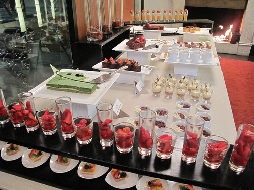 One of the dessert tables