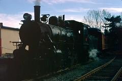Arcade and Attica Railroad Steam Locomotive in 1981