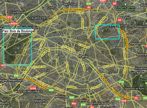 Google Maps Satellite Paris