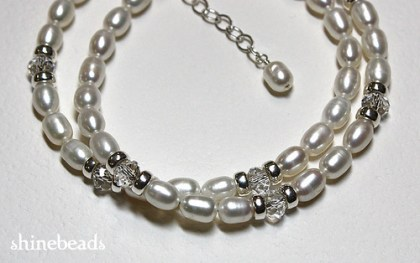 freshwater pearl and crystal necklace