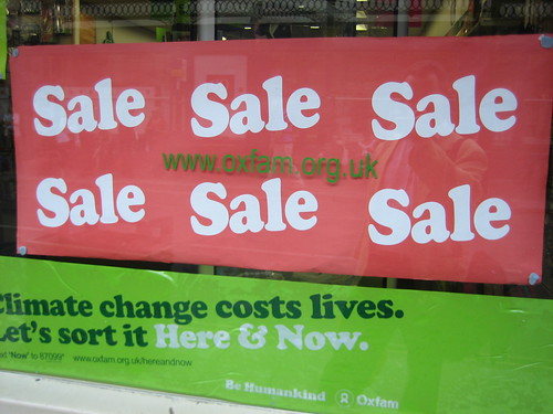 Sale charity shop taken by Howard Lake