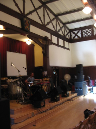 The Swedish American Hall stage
