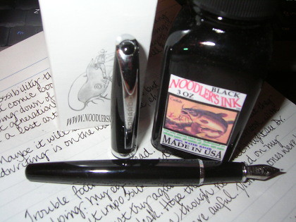 Leonardo Calligraphy Pen Meets Noodlers Black Ink