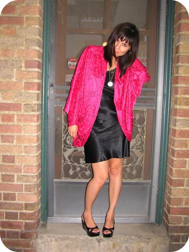 vintage 80's draped jacket