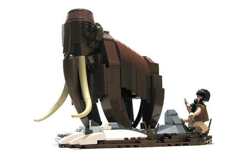 LEGO Woolly Mammoth by Jordan Schwartz