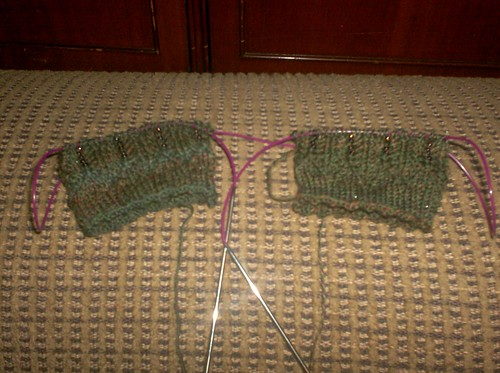 Beaded Mystery Socks - Clue 1