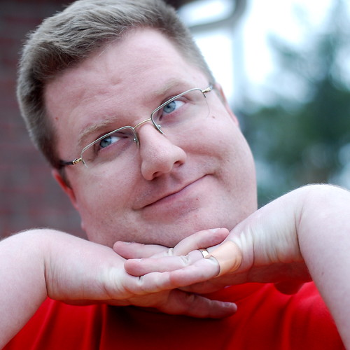 Kevin Lawver doing his best Glamour Shots pose