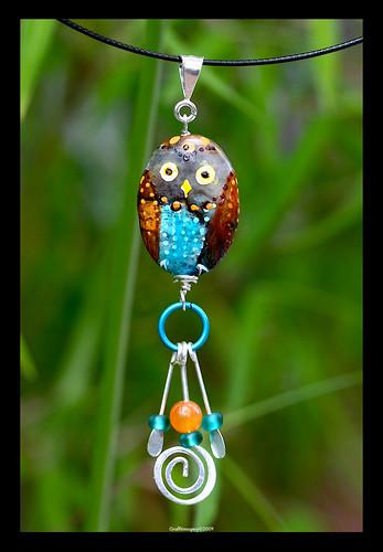 MIDI BINDI BIRD pendant by Sandra Miller ©2009 by you.