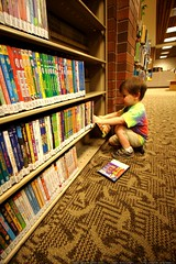 sequoia picking out dvds in the lake oswego ch...