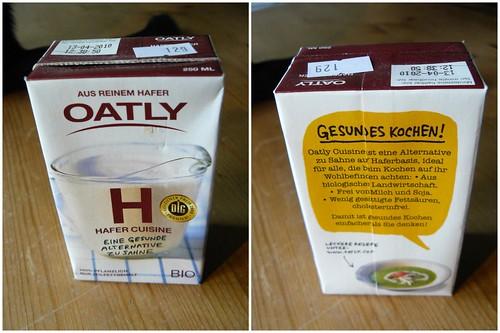 Oatly vegan cream!