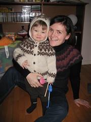 Hjalti wearing Elsas lopapeysa