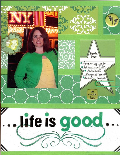 "I created this layout with St. Patrick's Day in mind as well – thinking about all of the things I feel ""lucky"" about."