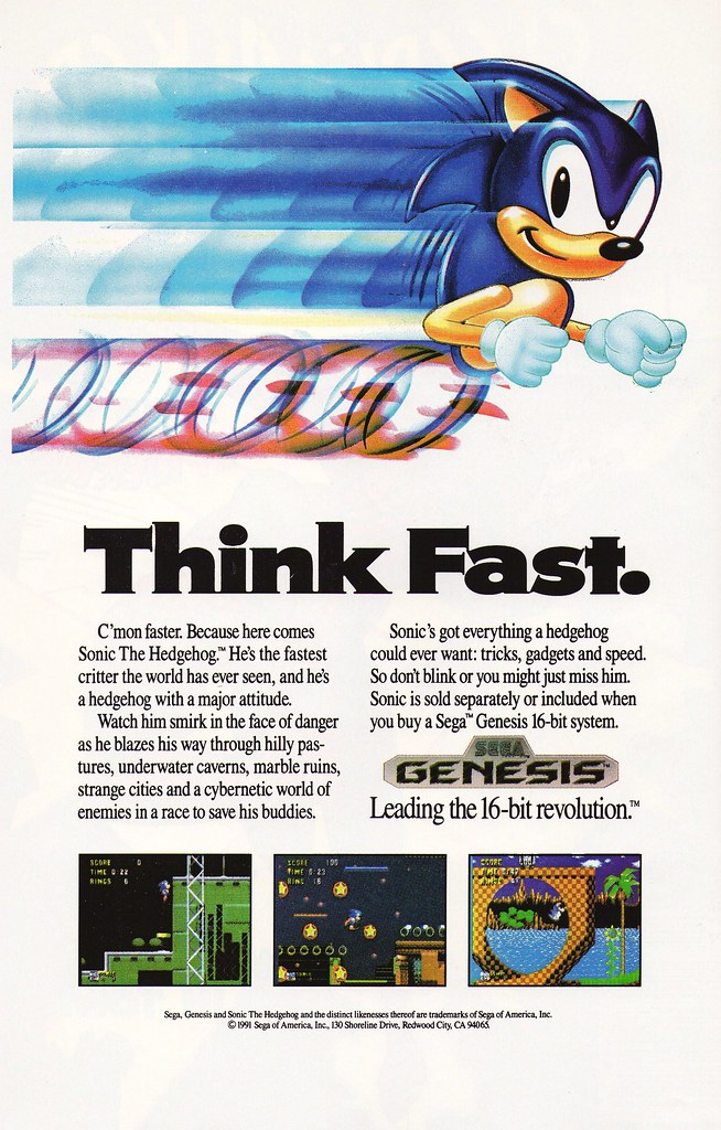 Sonic on Sega Genesis