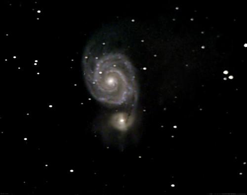 M51-The Whirlpool Galaxy on 2/23/09