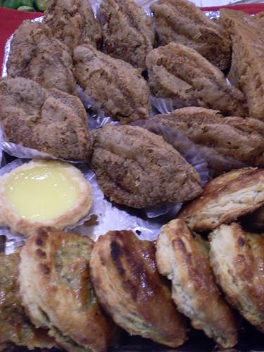Egg Tart, Taro Puff & Chicken Pie