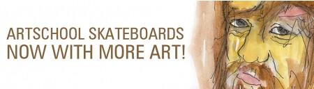 header art school skateboards