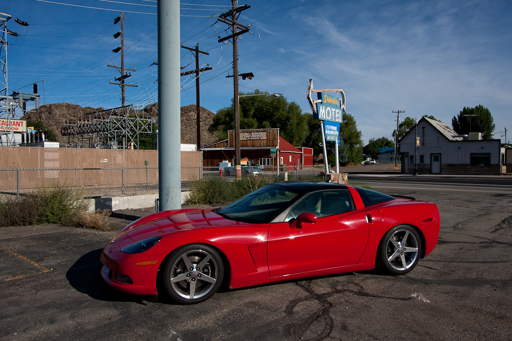 Lowered Corvette And Red C4 Black